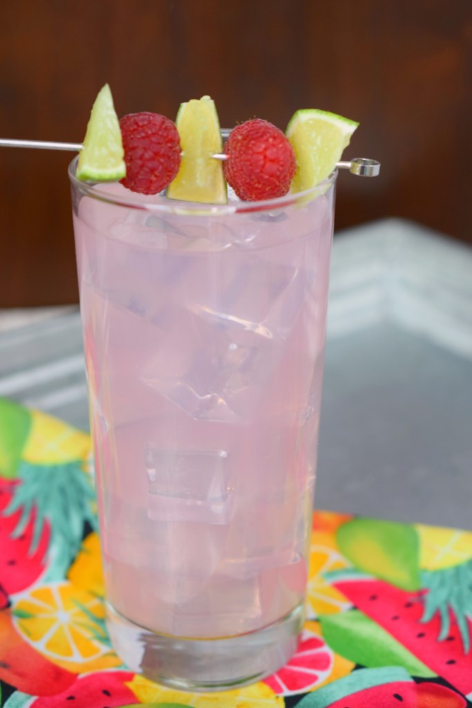 This Raspberry Lemonade Moscato Wine Spritzer is an enjoyable fruity cocktail that's easy to make. Perfect for summertime sipping.
