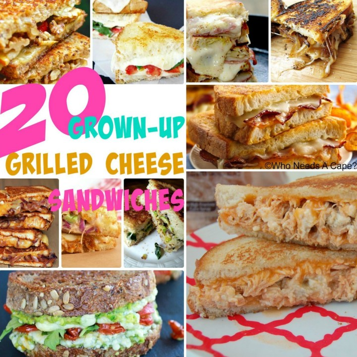 These 20 Grown-Up Grilled Cheese Sandwiches are for the adult palate, with loads of flavor, cheesy goodness and all things fantastic! Easy dinner options!