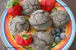 Blended Berry Muffins | Who Needs A Cape?
