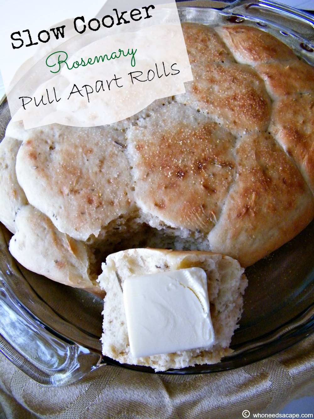 Make rolls in your slow cooker? Yes you can! Try these delicious Slow Cooker Rosemary Pull Apart Rolls with a bowl of soup or stew. Wonderfully simple!