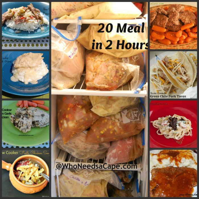 20 Freezer Meals in 2 Hours | Who Needs A Cape?