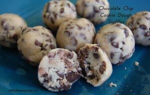 Chocolate Chip Cookie Dough Truffles | Who Needs A Cape?