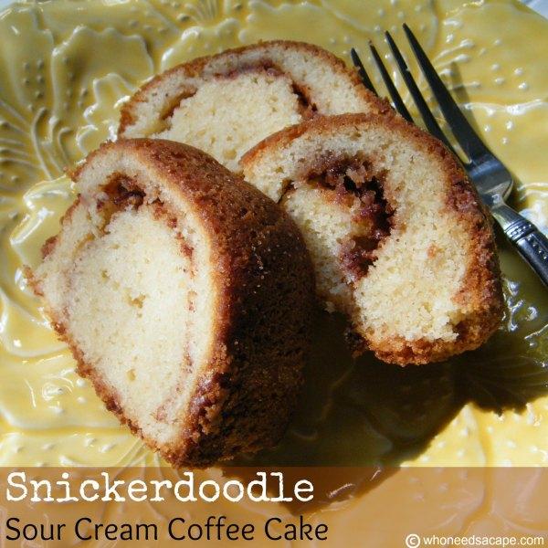 Snickerdoodle Sour Cream Coffee Cake