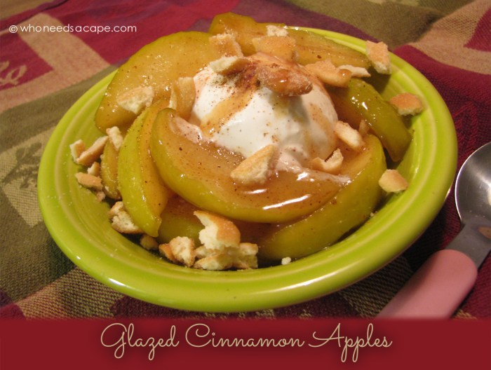 Glazed Cinnamon Apples