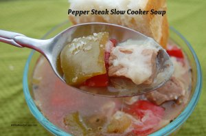 Pepper Steak Slow Cooker Soup
