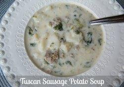 Tuscan Sausage Potato Soup