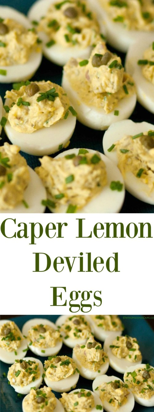Caper Lemon Deviled Eggs are a tasty appetizer that will WOW your guests! Perfect for holiday celebrations, you'll love the twist on this classic appetizer.