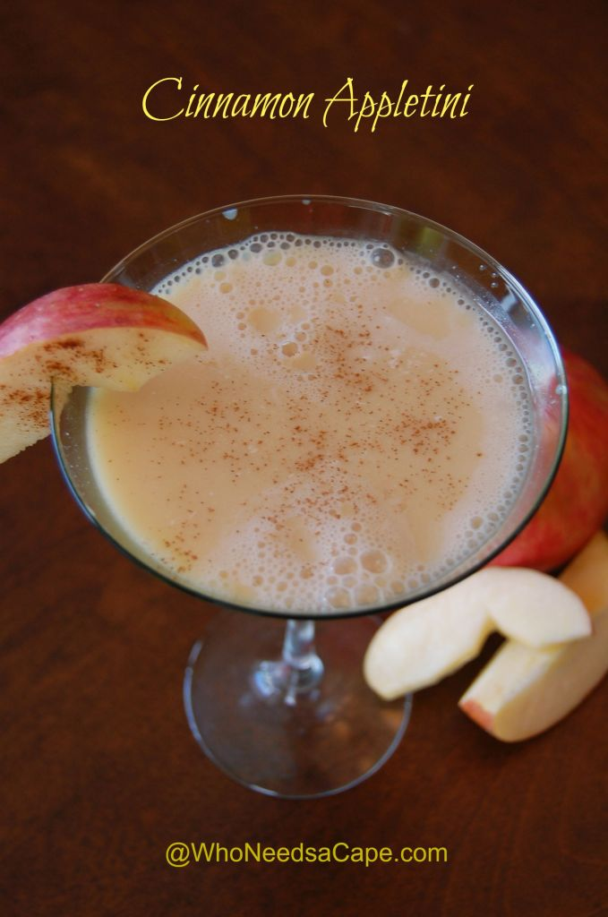 The autumn season deserves a delicious drink like the Cinnamon Appletini cocktail. The best fall flavors in one easy to make beverage!