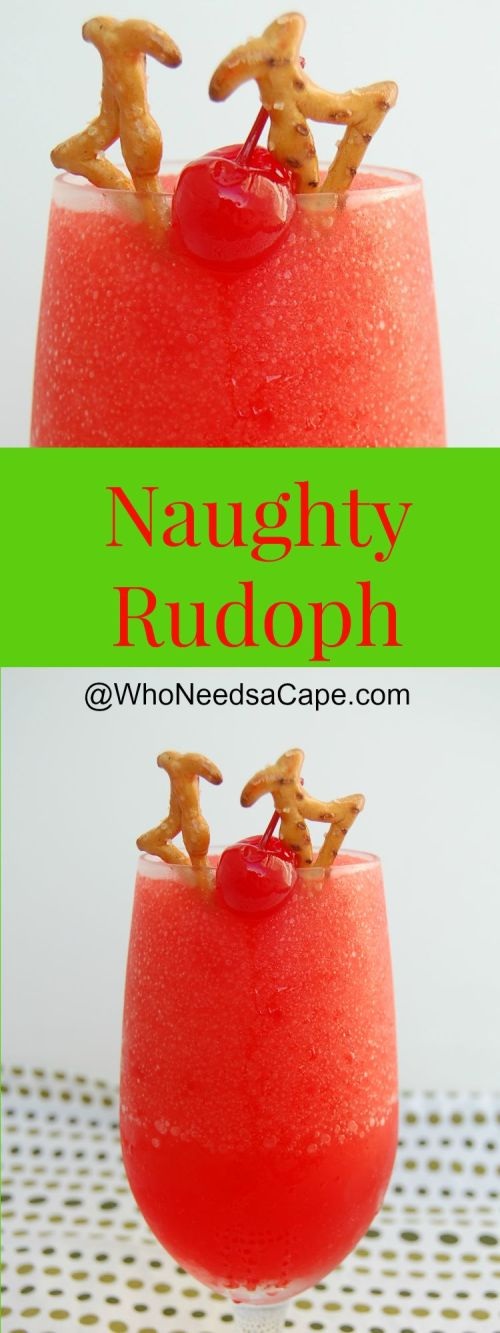 Get out your blenders for a delish Frozen Drink - The Naughty Rudolph is fun and festive - the perfect Christmas Cocktail! Fabulous holiday drink!