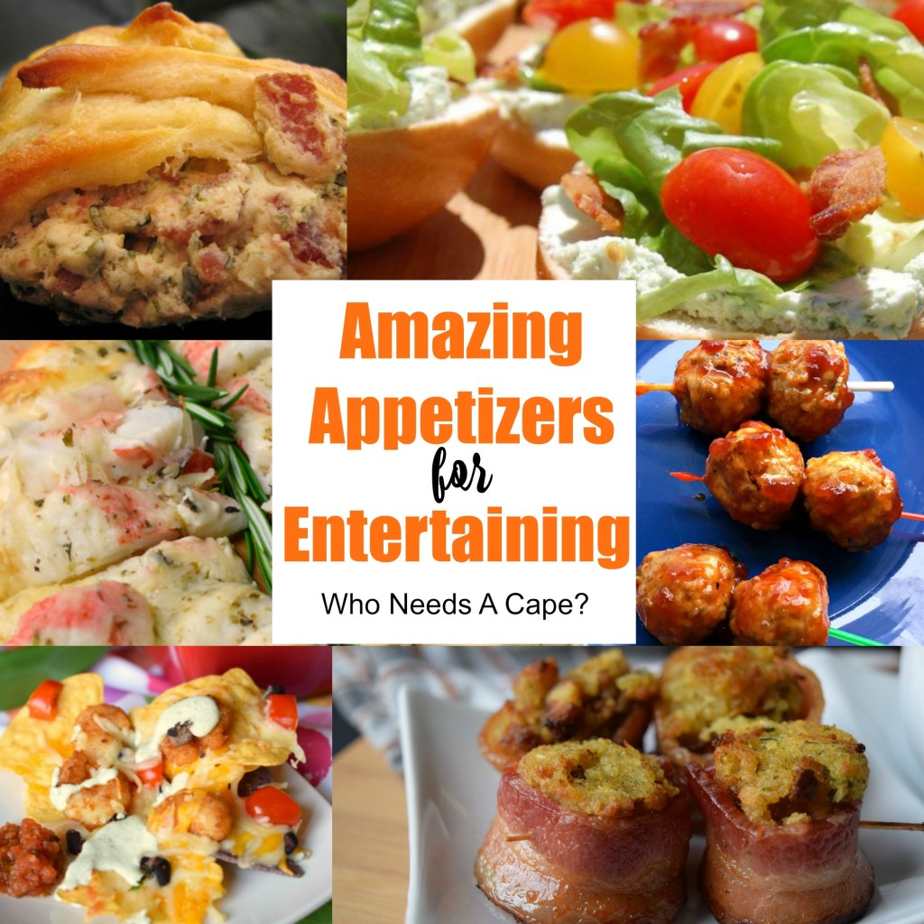 A fabulous collection of Amazing Appetizers for Entertaining. Everything you'll need to host a delicious party with a great selection of food.