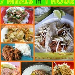 7 Meals in 1 Hour Slow Cooker Crockpot Freezer Meals