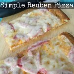 Simple Reuben Pizza