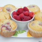 Lemon-Glazed Raspberry Muffins