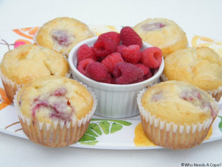 Lemon-Glazed Raspberry Muffins are the perfect breakfast treat. Delicious fruity flavor in the ease of a muffin, bake some up, they won't last long.