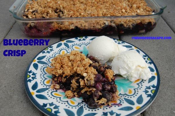 Blueberry Crisp | Who Needs A Cape?