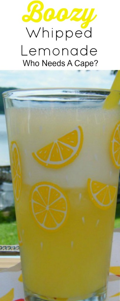 Boozy Whipped Lemonade makes a fabulous summer cocktail. Whipped Vodka with a hint of pineapple and lemonade is all you need for this great beverage.
