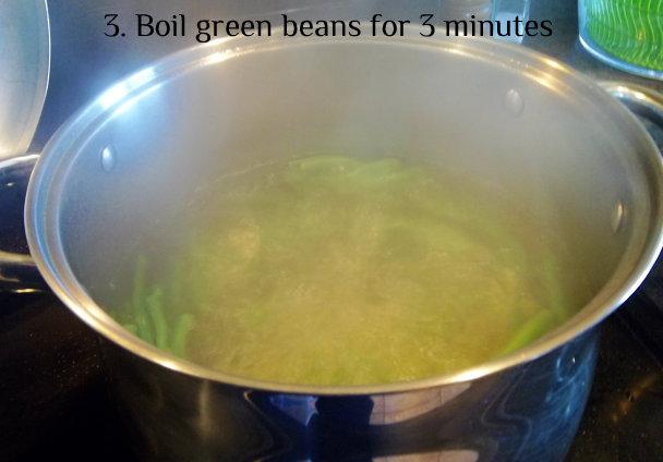 3 green beans