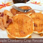 Apple Cranberry Crisp Pancakes