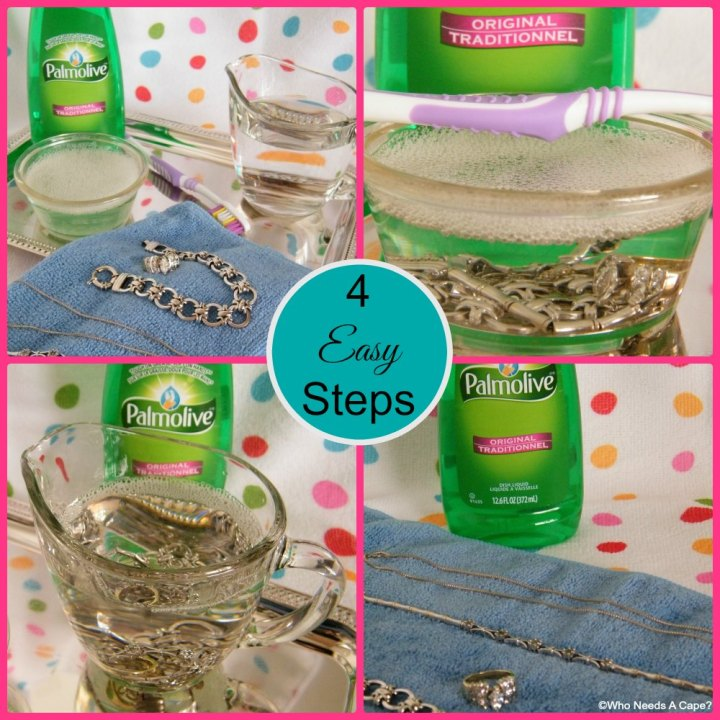 Simple 2 Ingredient Jewelry Cleaner | Who Needs A Cape?