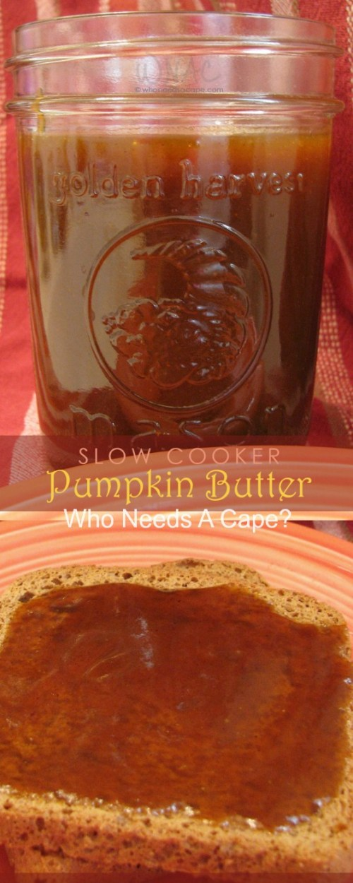Slow Cooker Pumpkin Butter ~ Enjoy on toast, bagel, English muffin or atop a scoop of cottage cheese!