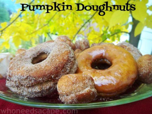 Pumpkin Doughnuts | Who Needs A Cape?