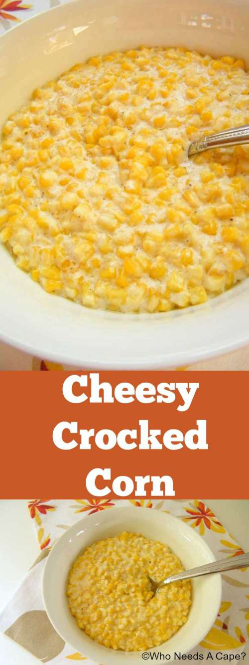 This slow cooker Cheesy Crocked Corn is a great way to add some variety to your side dishes. Easy to prepare and who doesn't love cheese and corn?