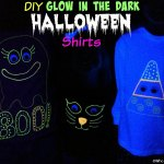 DIY Glow in the Dark Halloween Shirts