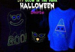 DIY Glow in the Dark Halloween Shirts