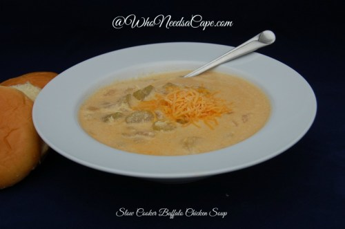 Slow Cooker Buffalo Chicken Soup