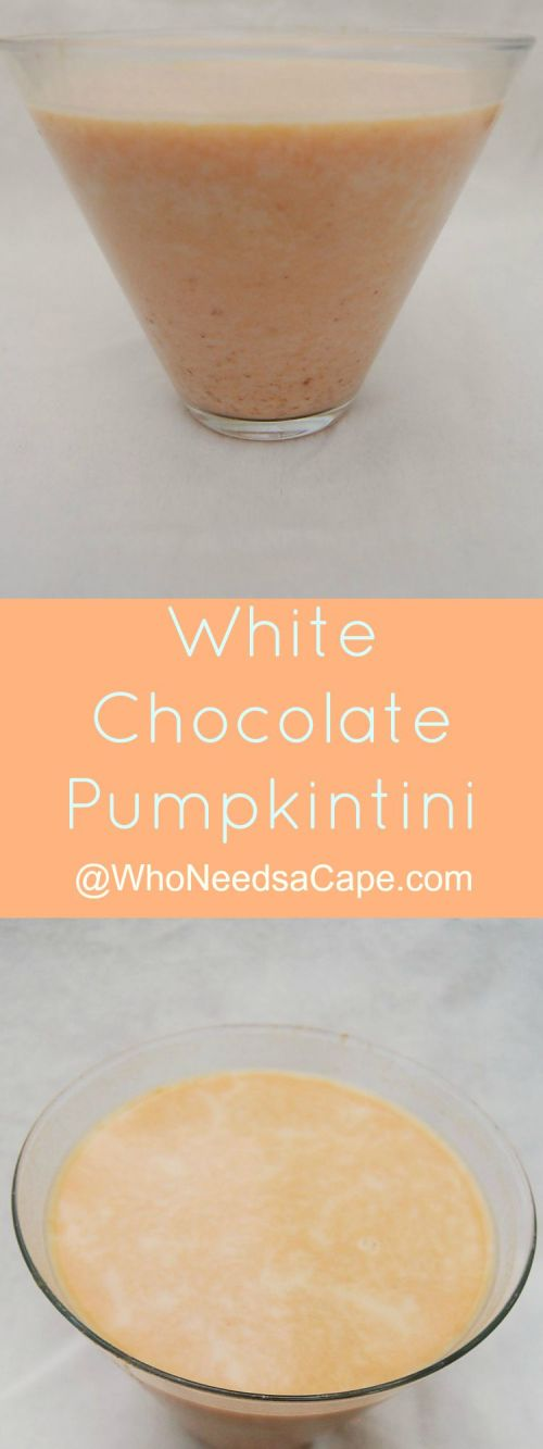 White Chocolate Pumpkintini is a perfect cocktail dessert to make this year! Serve it at all your holiday functions! Your guests will thank you!