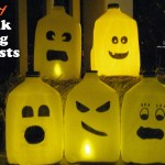 DIY Milk Jug Ghosts