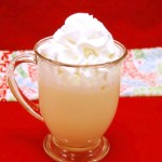Boozy Eggnog White Hot Chocolate