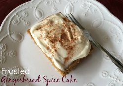 Frosted Gingerbread Spice Cake