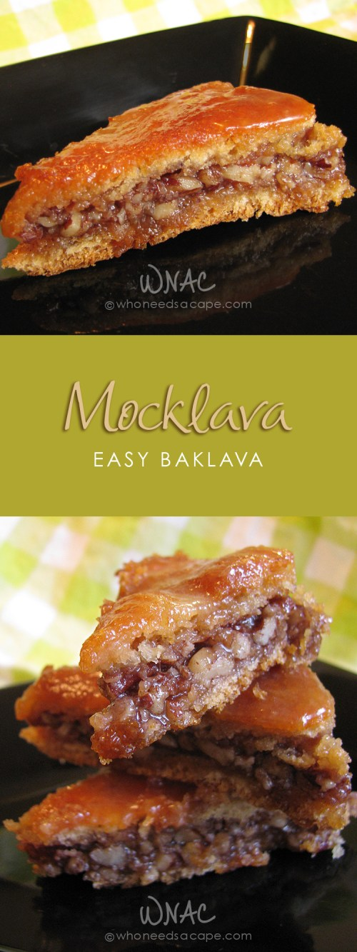 Mocklava (Easy Baklava) ~ If you love baklava, this is an easy and adaptable recipe using crescent roll dough instead of phyllo! Fantastic dessert!