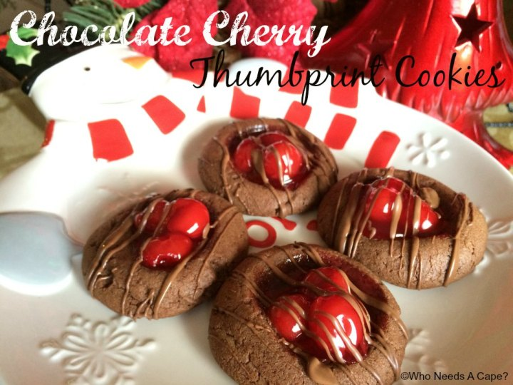 These Chocolate Cherry Thumbprint Cookies make holiday baking a delight! With big juicy cherries, these are the perfect Christmas cookie!