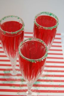 Cranberry Champagne Mimosa
