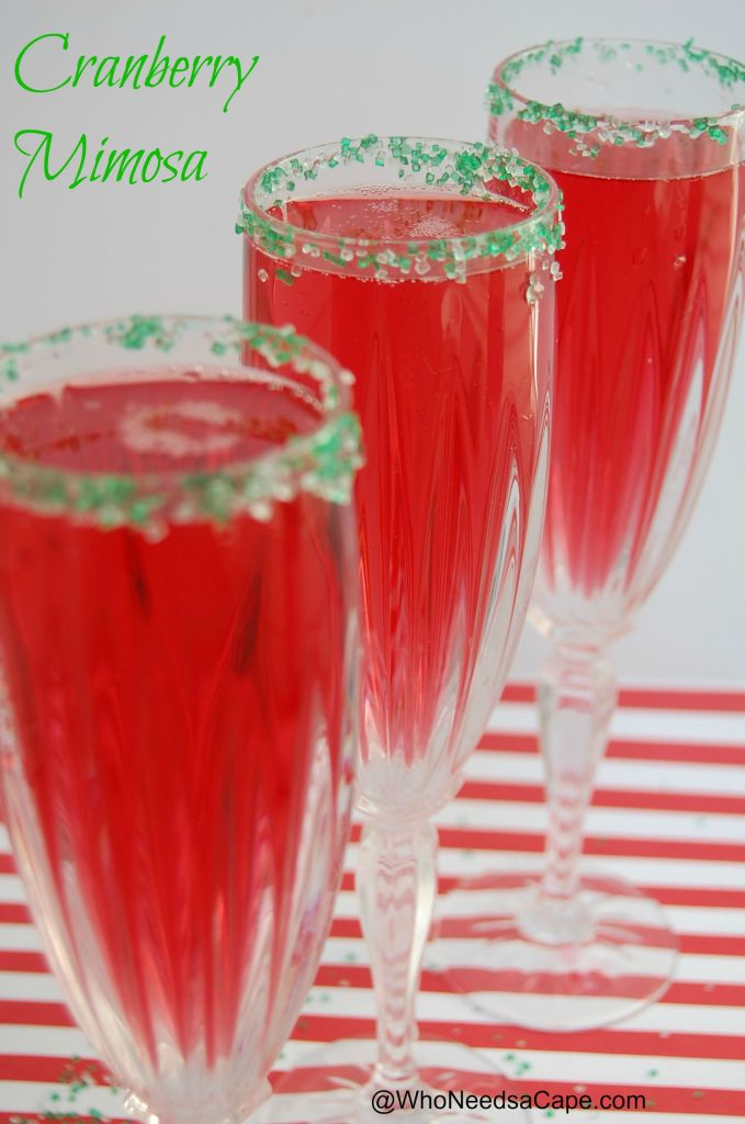 Cranberry Mimosa | Who Needs A Cape?