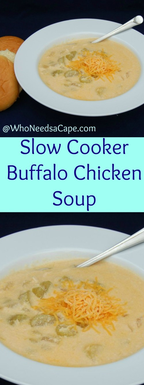 Slow Cooker Buffalo Chicken Soup is a fantastic meal and a perfect freezer meal!
