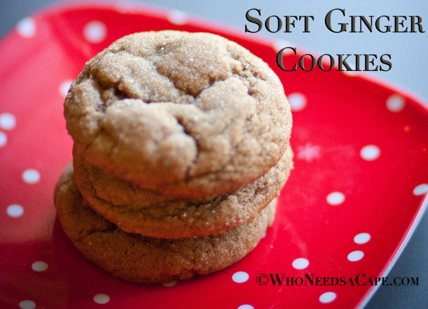 25 Last Minute Christmas Cookie Ideas. Soft Ginger Cookies.