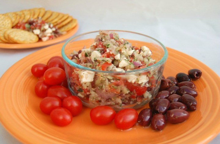 Greek Bruschetta is a delicious, but simple to make appetizer. Easy to prepare, great for parties, holiday entertaining or Friday night!