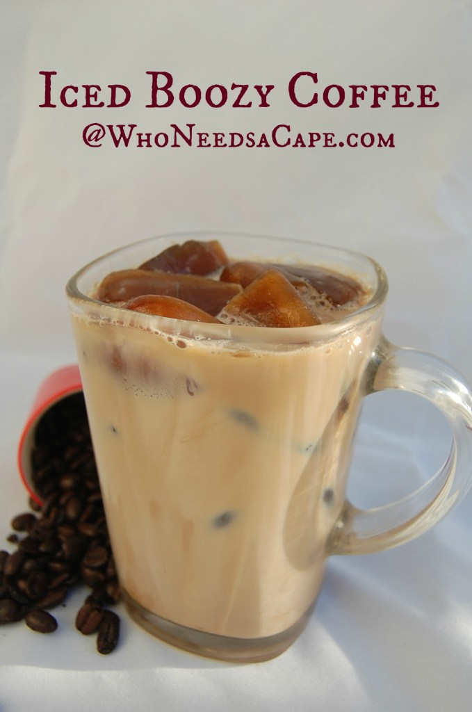 Iced Boozy Coffee is a really yummy way to have an after dinner drink. It's simple to make but has a powerful punch of flavor!