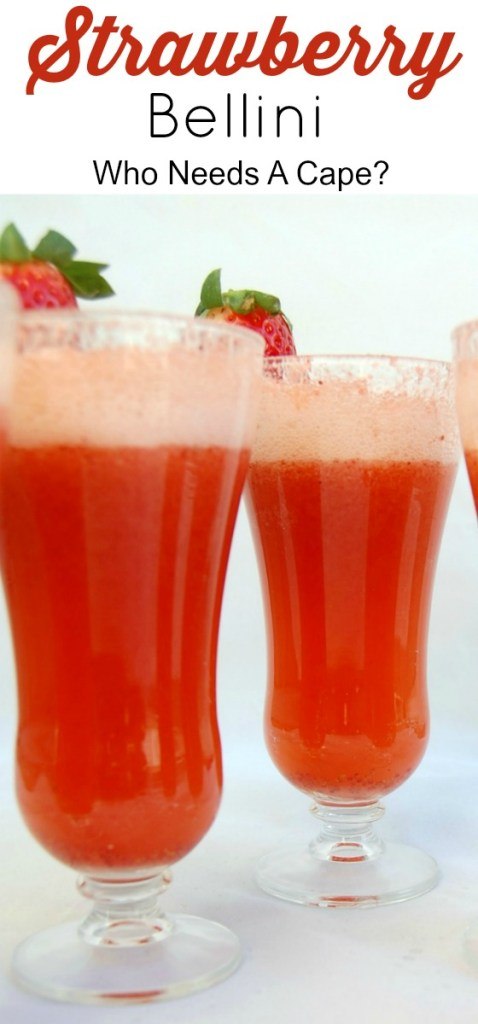 Make a Strawberry Bellini for all your brunches, lunches and get togethers! This is a drink that is easy to make and will wow your friends with it's taste!