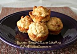 Banana Brown Sugar Muffins