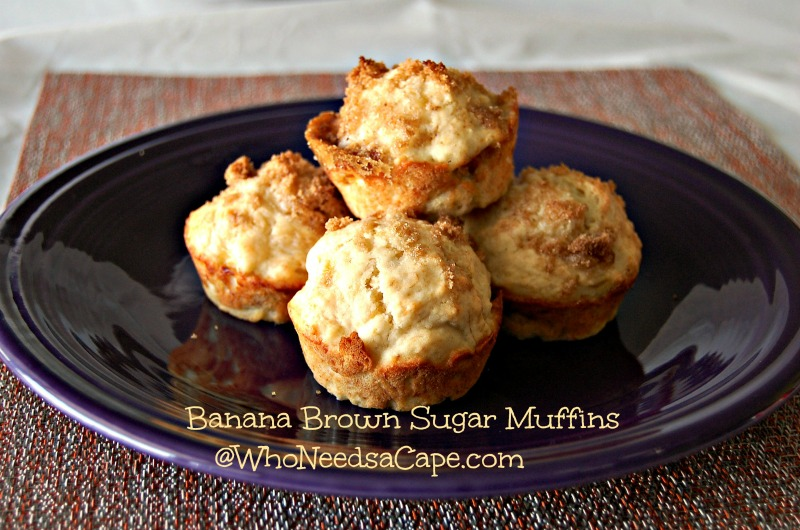 Banana Brown Sugar Muffins | Who Needs A Cape?