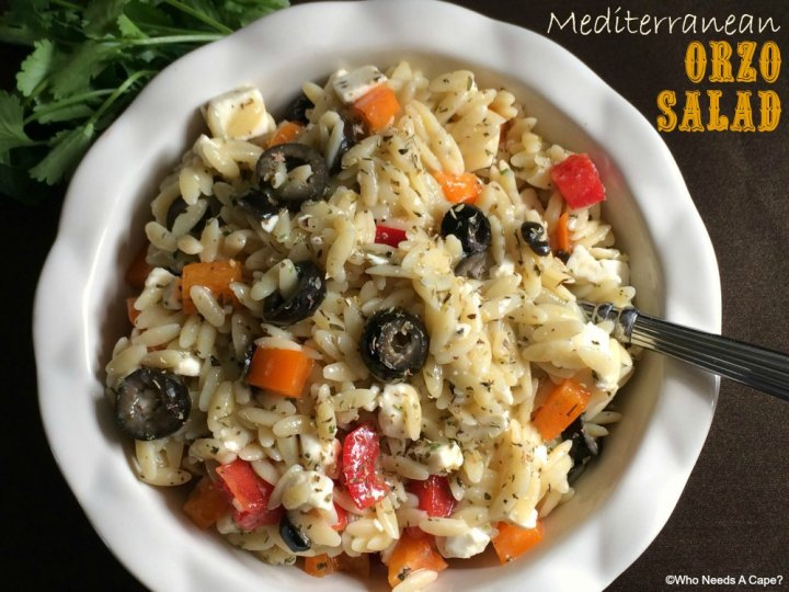 This Mediterranean Orzo Salad is the perfect addition to your meal. Whether with grilled meat or seafood, you'll love the flavors and how easy it is.