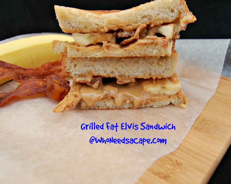 Grilled Fat Elvis Sandwich