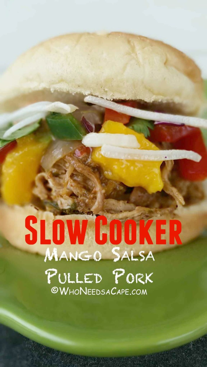 Another great slow cooker meal, Slow Cooker Mango Salsa Pulled Pork, is an amazingly sweet and spicy meal your family will love! Great as a freezer meal too!