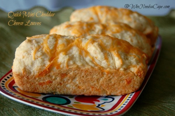 Quick Mini Cheddar Cheese Loaves | Who Needs A Cape?