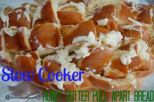 Slow Cooker Honey Butter Pull Apart Bread