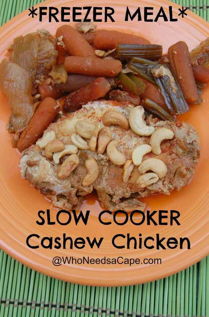 Slow Cooker Cashew Chicken is a delicious home cooked meal! Save on the take out and make this simple crockpot dinner at home.